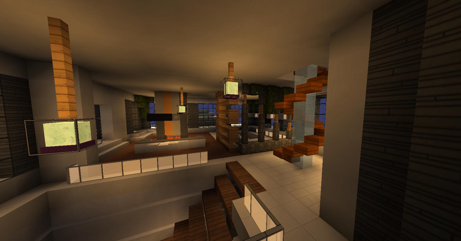 Unduh Modern Mountain House 37 Mb Peta Untuk Minecraft