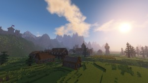 Unduh Medieval Village with Castle untuk Minecraft 1.12.2