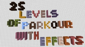 Unduh 25 Levels of Parkour With Effects untuk Minecraft 1.16.3